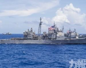 美軍軍艦穿越台灣海峽