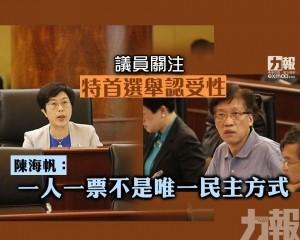 陳海帆:一人一票不是唯一民主方式