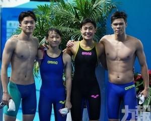 黎君豪50米蝶泳打破個人成績