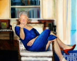 驚現克林頓扮女人油畫