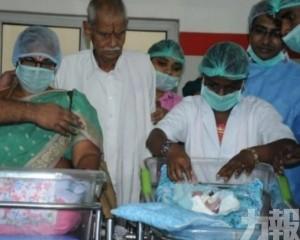 74歲印婦人工受孕產雙胞胎