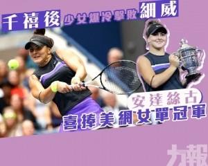 安達絲古喜捧美網女單冠軍