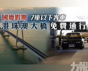 港珠澳大橋免費通行