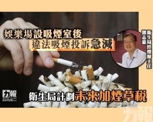 衛生局計劃未來加煙草稅
