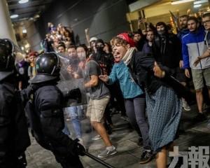 巴塞羅那爆示威者與警衝突逾70傷