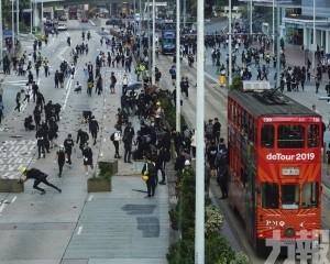 林鄭:暴力示威者的企圖不會得逞