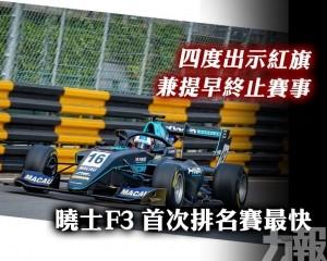 曉士F3首次排名賽最快