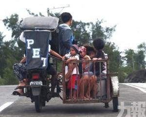菲律賓1死 20萬居民疏散