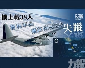 智利軍機飛往南極途中失蹤