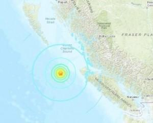 加拿大卑詩省近海發生6.3級地震