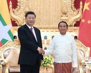 習近平晤緬甸總統盼加快一帶一路對接