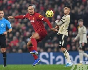 利物浦主場兩球淨勝曼聯