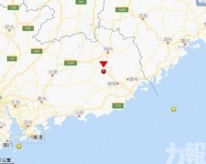 廣東梅州凌晨兩度地震 最高3.7級