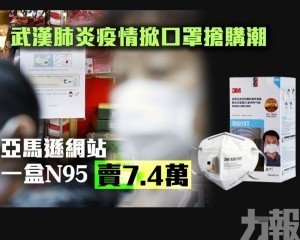 亞馬遜網站一盒N95賣7.4萬