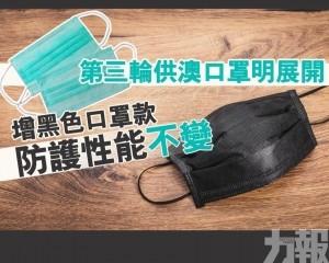 增黑色口罩款防護性能不變