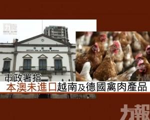 市政署指本澳未進口越南及德國禽肉產品