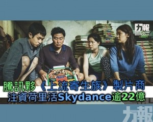 注資荷里活Skydance逾22億