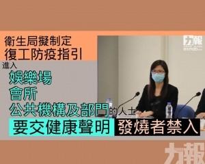 特定場所相關人士要交健康聲明 發燒者禁入
