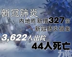 3,622人出院 44人死亡