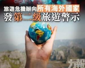旅遊危機辦向所有海外國家發第二級旅遊警示