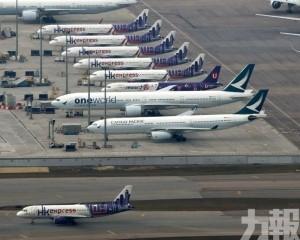香港機場暫停往內地水陸交通