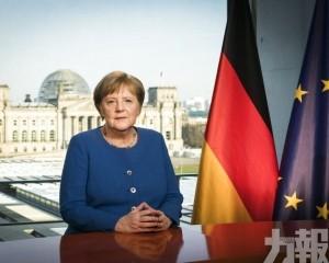 德國總理默克爾居家隔離