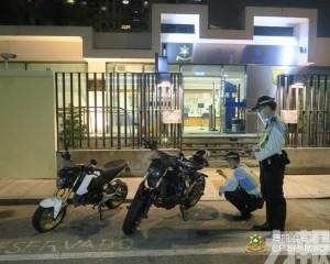 治安警截獲多架懷疑非法改裝電單車
