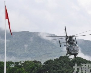 駐港解放軍直升機昨訓練時失事