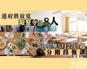 中小學5月27日起分階段復課