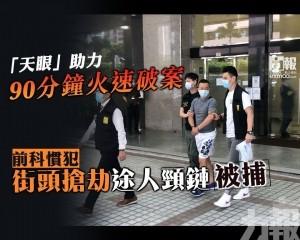 前科慣犯街頭搶劫途人頸鏈被捕