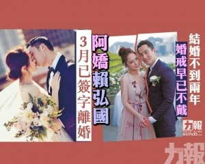 阿嬌、賴弘國3月已簽字離婚