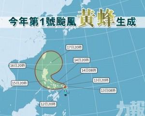 今年第1號颱風「黃蜂」生成