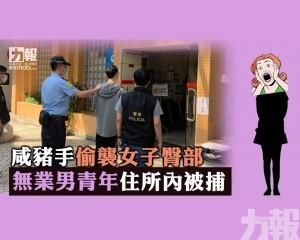 無業男青年住所內被捕