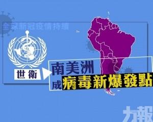 世衛指南美洲成病毒新爆發點