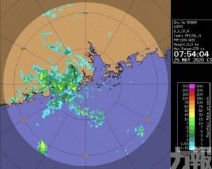 未來2小時將有雷雨區影響本澳