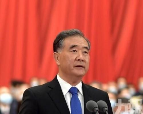 汪洋:中國式民主發揮重大作用