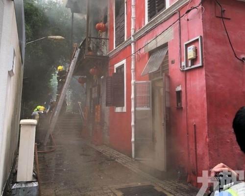 消防到場開喉救熄