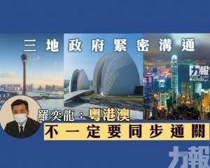 羅奕龍:粵港澳不一定要同步通關
