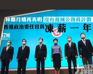 香港政治委任官員凍薪一年