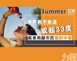 氣象局籲市民慎防中暑
