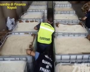 意大利警貨櫃檢IS製毒品 市值10億