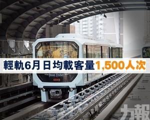 輕軌6月日均載客量1,500人次