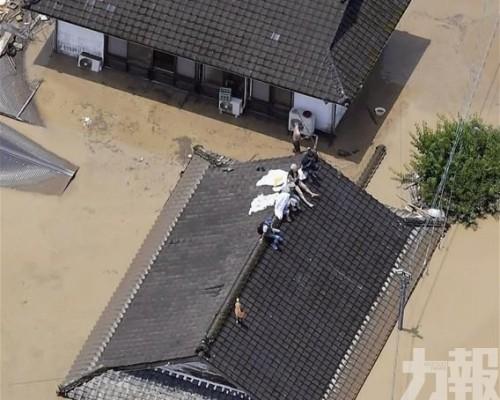 日本熊本暴雨引發洪災 16死16失蹤