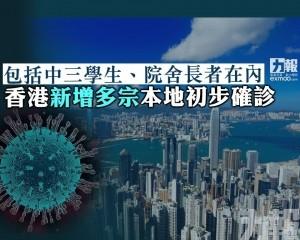 香港新增多宗本地初步確診