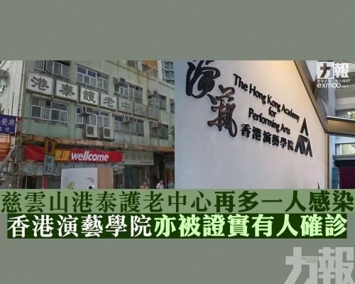 香港演藝學院亦證實有人確診