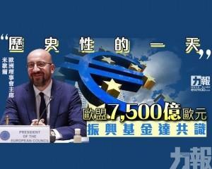 歐盟7,500億歐元振興基金達共識