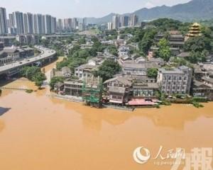 千年古鎮磁器口遭洪水淹沒