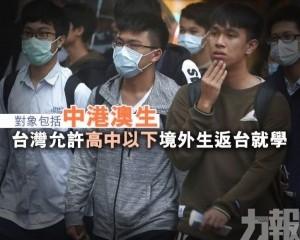 台灣允許高中以下境外生返台就學