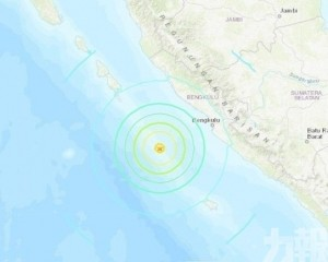 印尼蘇門答臘對開海域6分鐘2強震