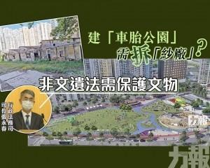 張永春:非文遺法需保護文物